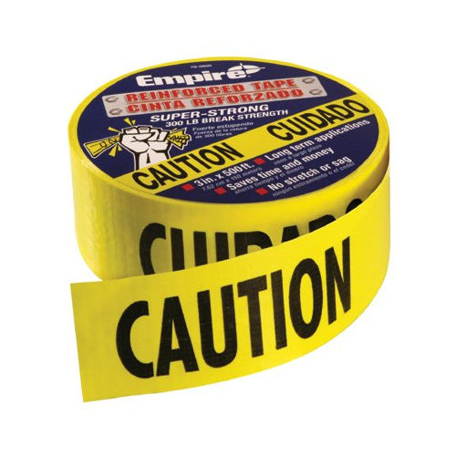 Empire Level Safety Barricade Tapes - caution tape heavy dutyreinforced 3''x500' roll (Set of 4)