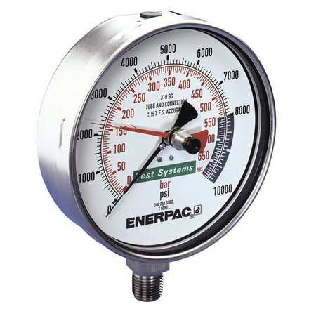 Enerpac T6007L Pressure Gauge,0 to 10000 psi,6-1/2 in. G1...