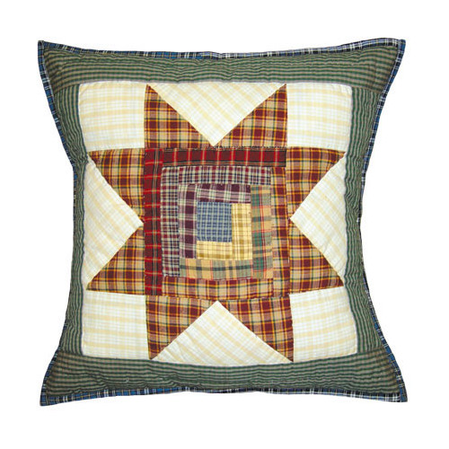Patch Magic Cottage Star Cotton Throw Pillow