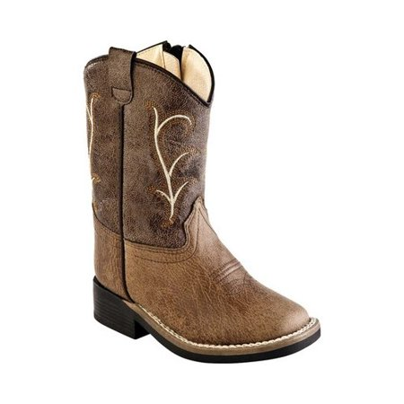 Infant Old West Broad Western Square Toe Boot - (The Best Construction Boots)