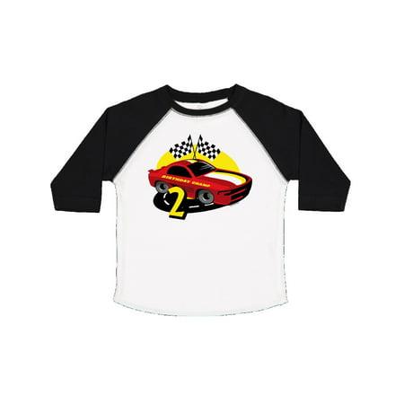 Race Car 2nd Birthday Toddler T Shirt