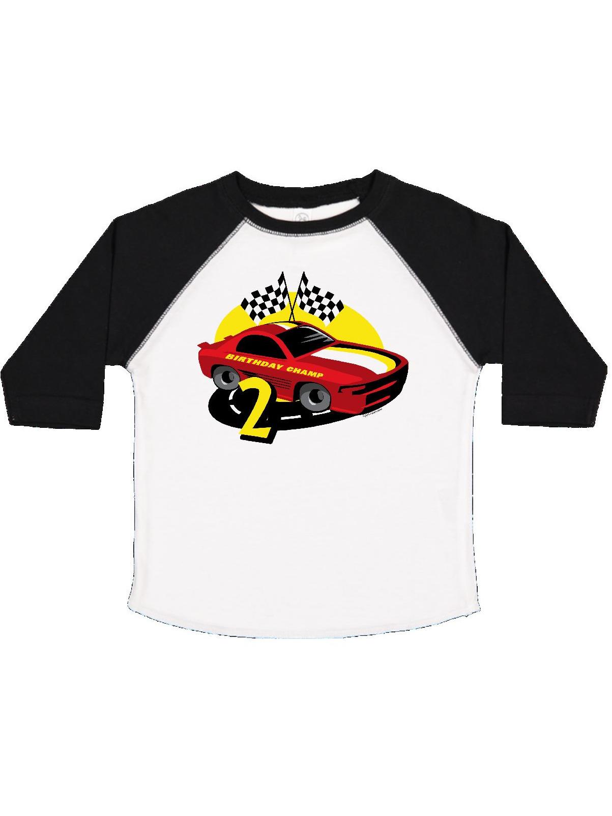 Race Car 2nd Birthday Toddler T-Shirt