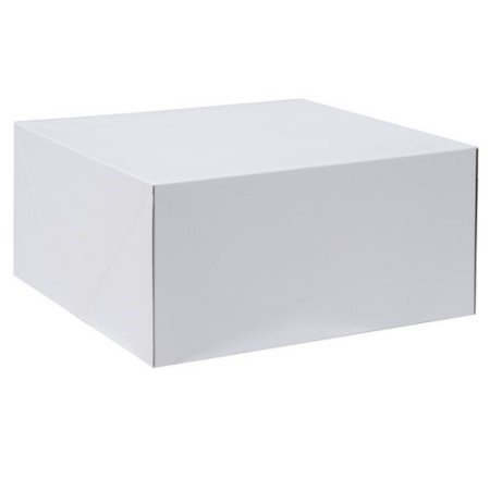 - Wilton White Square Corrugated Cake Box, 10 x 10 x 5 Inch, 2-Count
