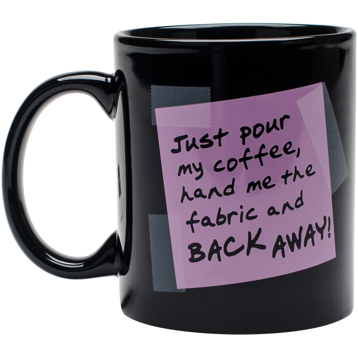 Quilt Happy Back Away Mug 11oz-Purple