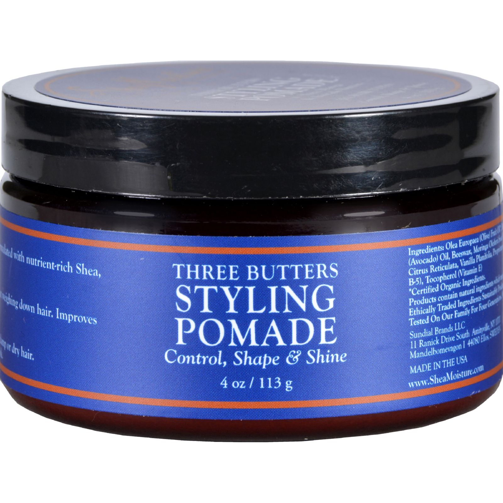 SheaMoisture Styling Pomade - Three Butters - Men - 4 oz