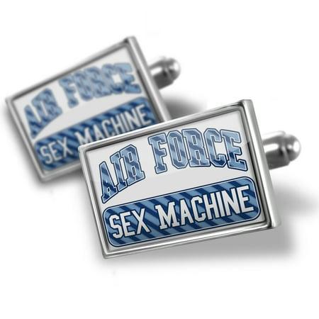 Cufflinks Air Force Sex Machine, Blue stripes - NEONBLOND