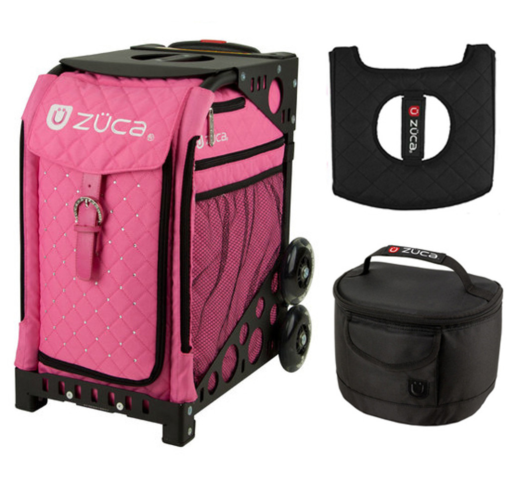 ZUCA Bag PINK HOT Sports Frame /& Insert Bag FREE Seat Cushion!