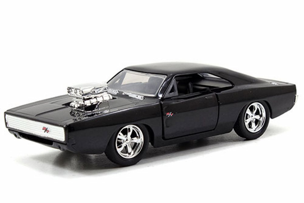 1970 Dom's Dodge Charger With Engine Blower, Black Jada Toys Fast & Furious 97042 1 32... by Jada