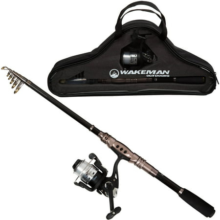 Ultra Smooth Combo - Wakeman Ultra Series Carbon Fiber and Steel Telescopic Spinning Combo
