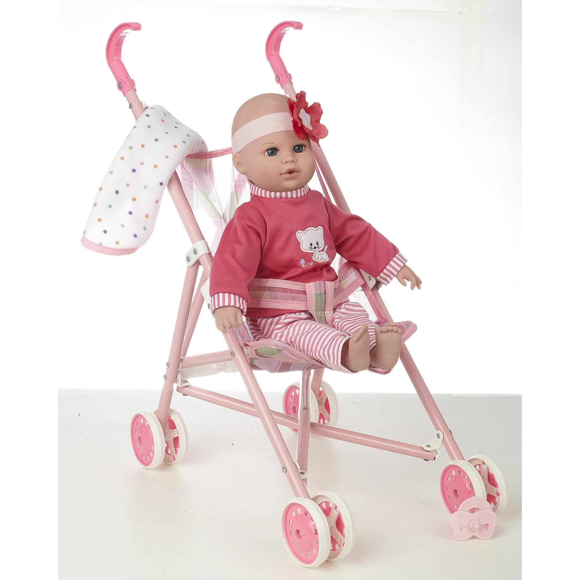 "16"" Baby Doll and Stroller Set by Kingstate Baby Dolls"