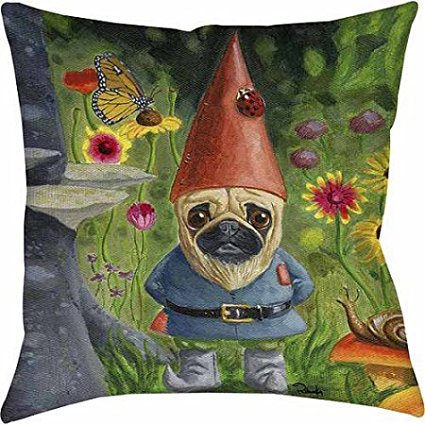 Pug Gnome Indoor/Outdoor Pillow 18
