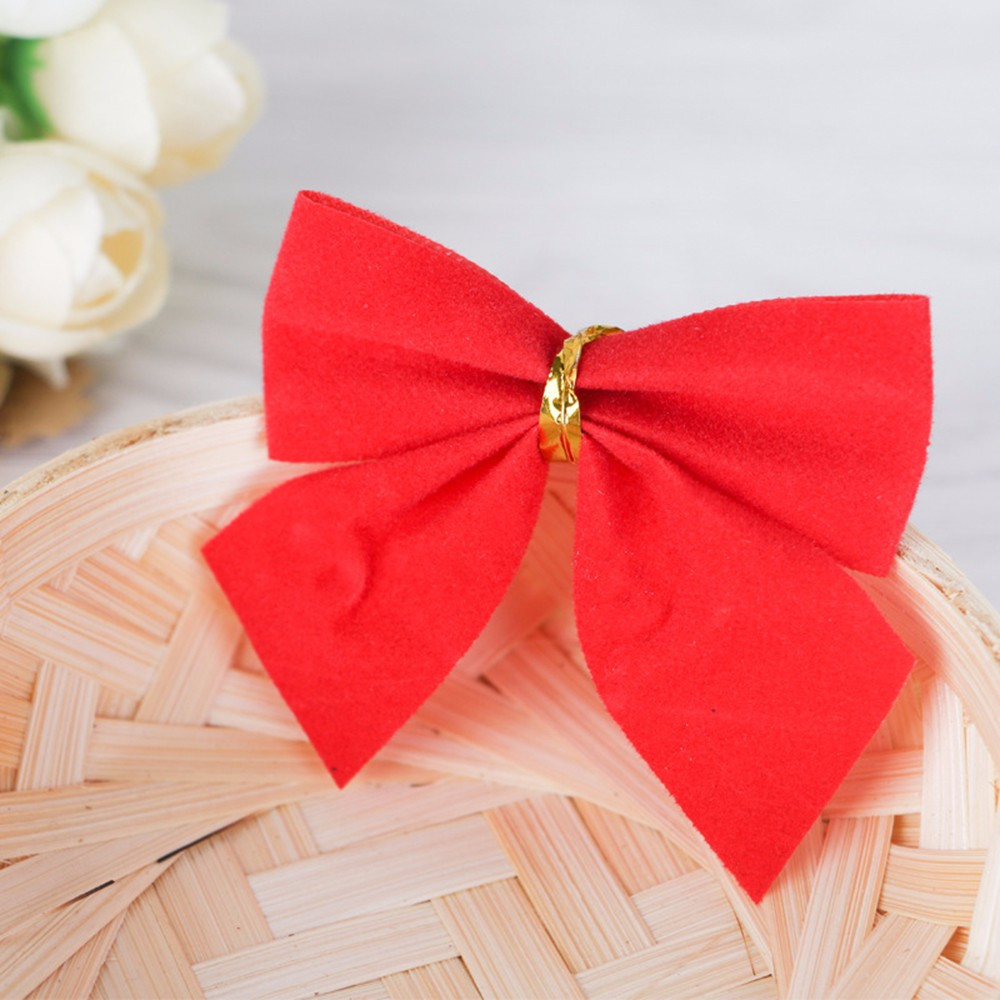 24pc Christmas Decoration Bowknot Christmas Tree Embellishment Gift Wrap Bowknot