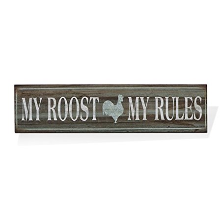 Barnyard Designs My Roost My Rules Retro Vintage Tin Bar Sign Country Home Decor 15.75
