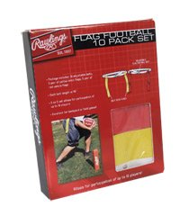 Rawlings Flag Football 10 Pack Set Yellow & Red by
