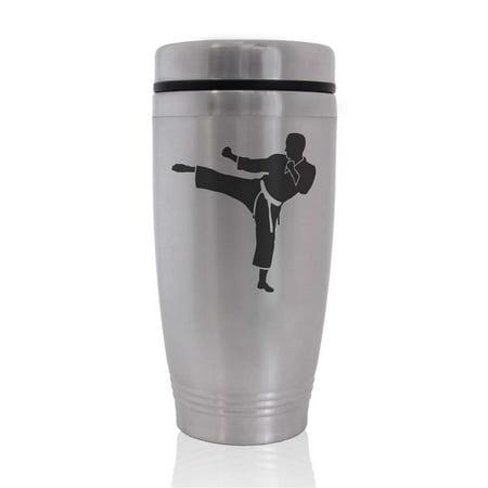 Commuter Travel Coffee Mug - Karate Man