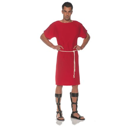 Roman Halloween Costumes Men (Red Toga Mens Adult Greek Roman Soldier Halloween)