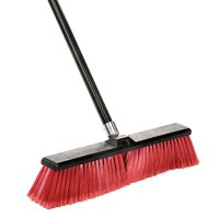 """Alpine Industries 18"""" Commercial Multi-Surface Push Broom, Green"""