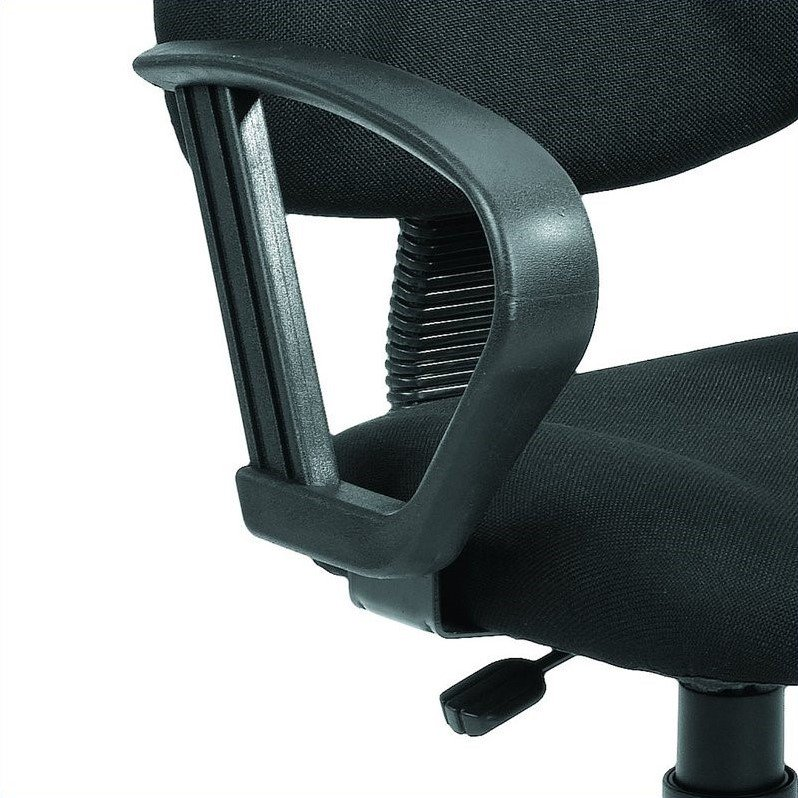 Boss Office Products Deluxe Posture Office Chair with Loop Arms-Black - image 2 de 6