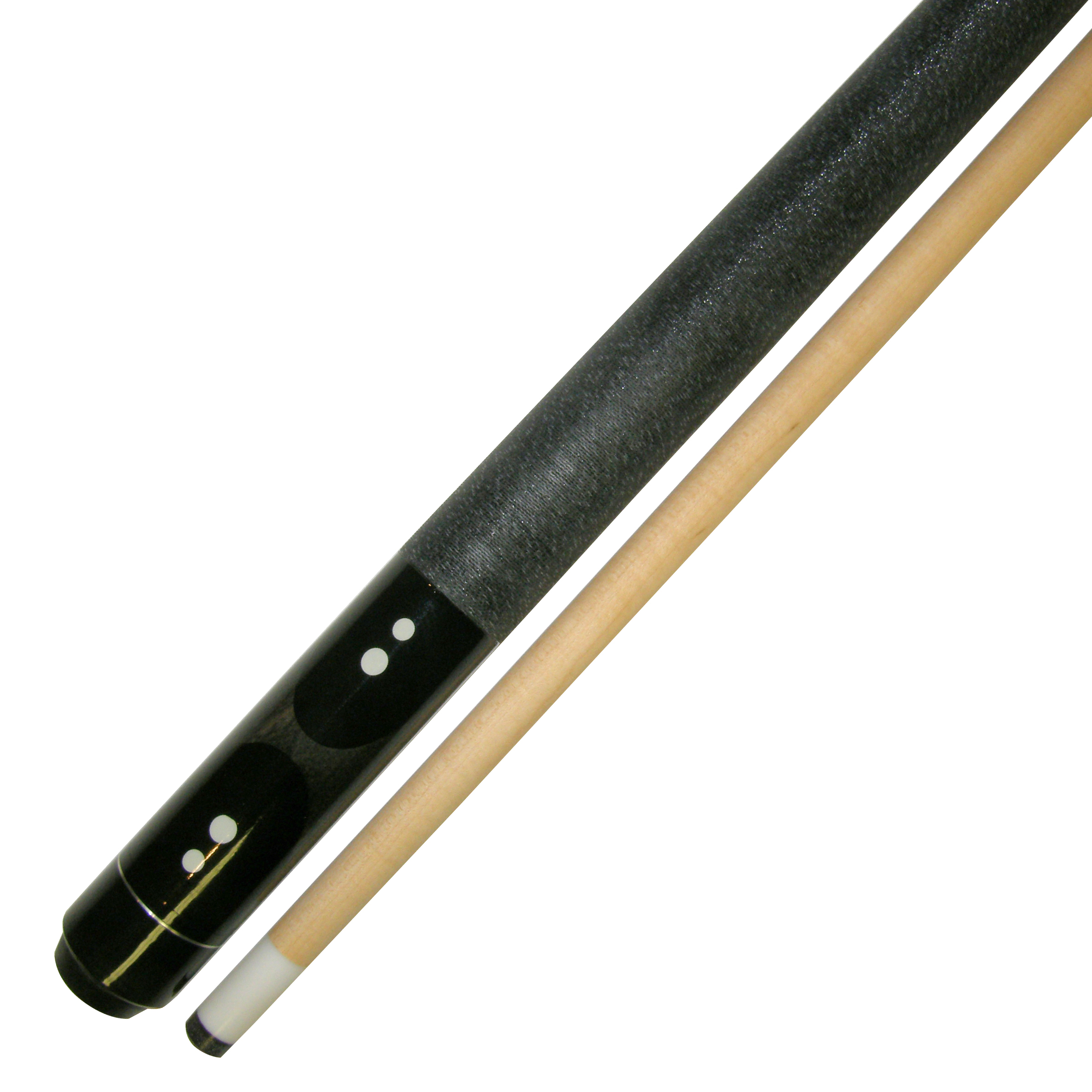 "58"" 2 Piece Hardwood Canadian Maple Billiard Pool Cue Stick 18 Ounce Black Gray by"