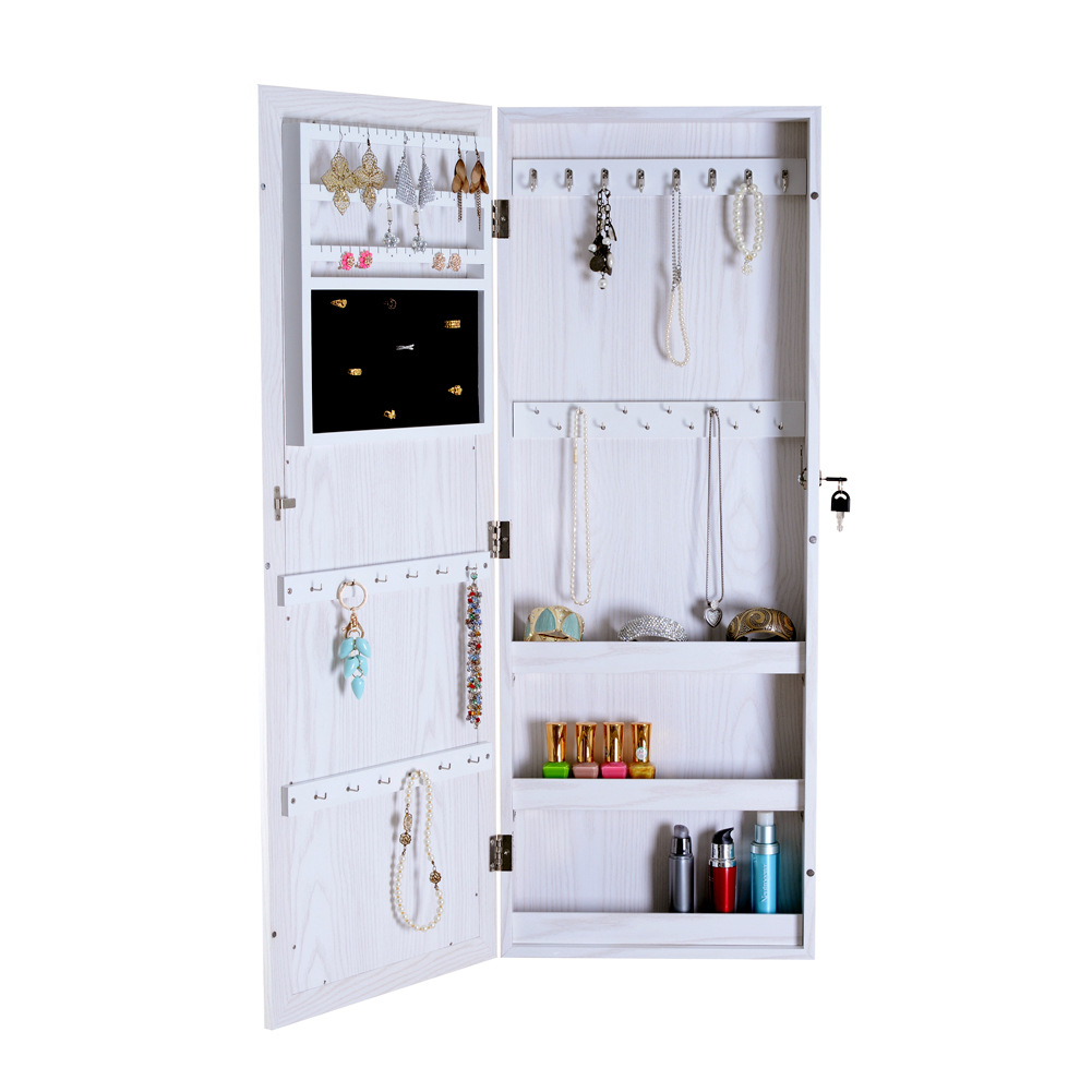 Organizedlife Mirror Jewelry Cabinet Armoire Cosmetic Organizer Storage  Wall Or Door Mounted   Walmart.com