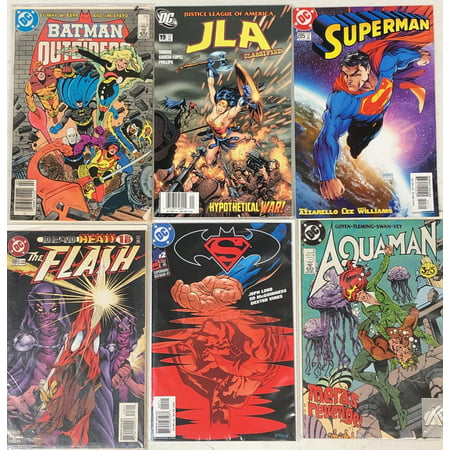 50 Random DC Comic Books- Superman, Batman, The Flash, Green Arrow, Wonder Woman, Aquaman, and/or many more! ()