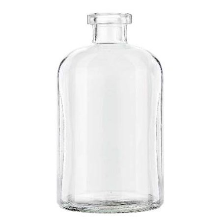 CLEAR 13.5 Ounce Apothecary Glass Vase  - Courtneys Candles
