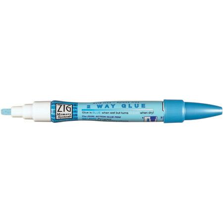 Zig 2-Way Glue Pen, Chisel Tip, 4mm, 12pk