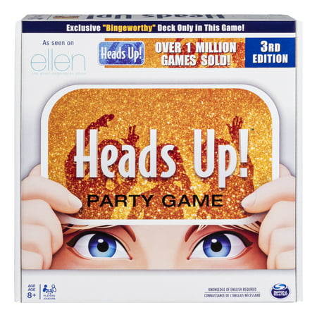 Heads Up! Party Game 3rd Edition, Fun Word Guessing Game for Families Aged 8 and - Outdoor Party Games