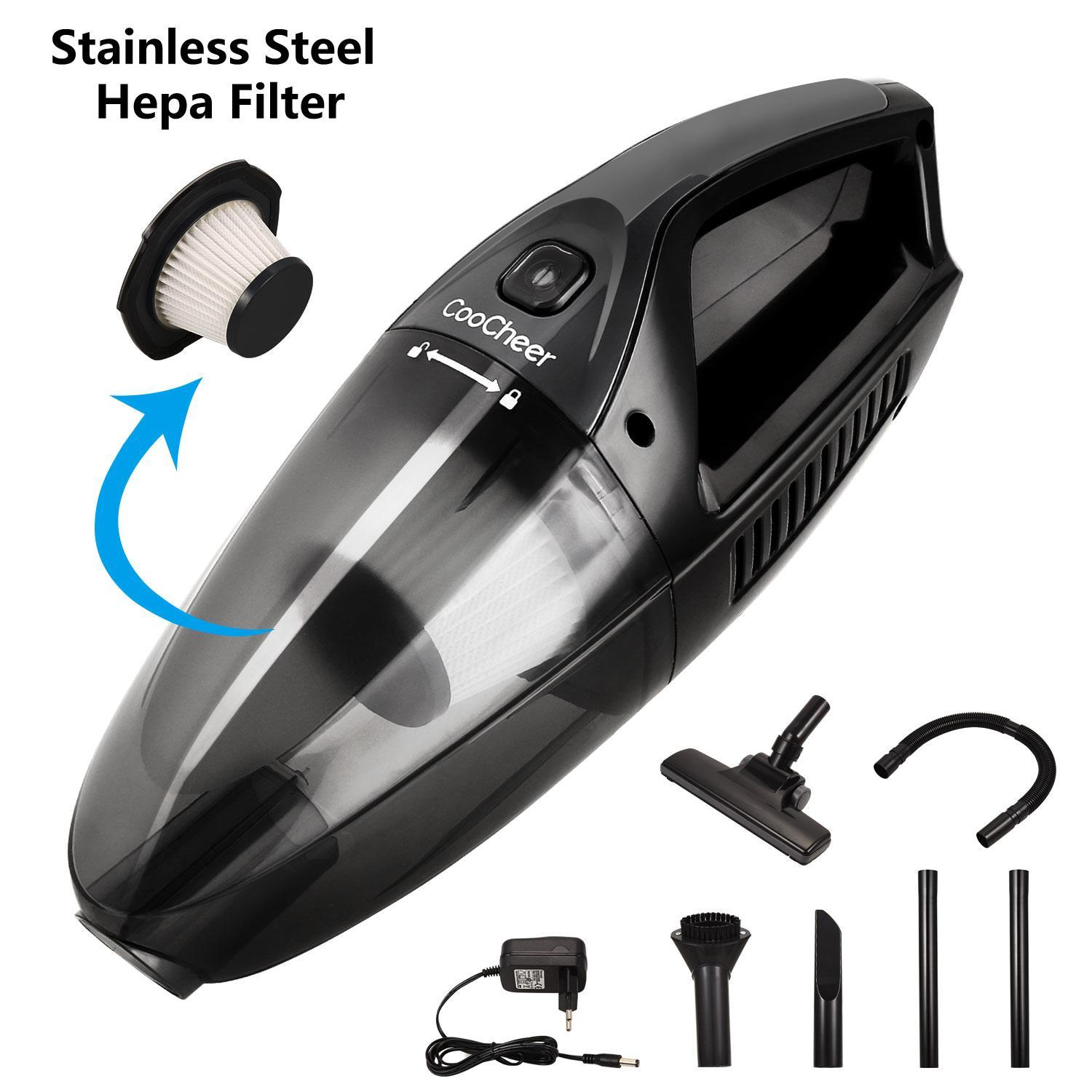 Portable Cordless Handheld Vacuum Cleaner Dustbuster for Home Office Auto Car BTC