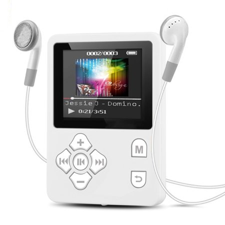 TSV MP3 Player, Portable Sound Music Player with FM Radio, Voice Recorder, Expandable up to 32GB TF Card, with Earphone ()