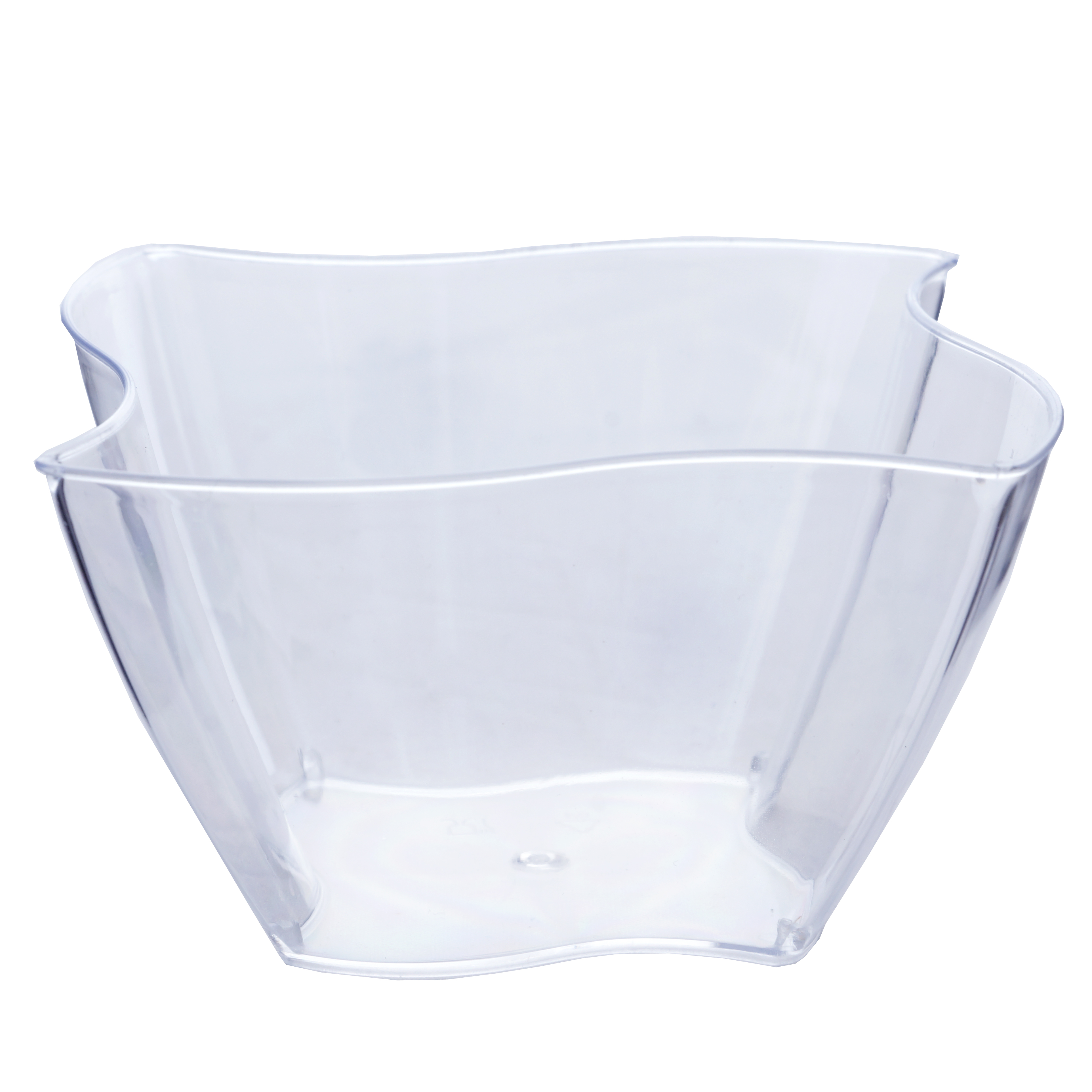 BalsaCircle 12 pcs 4 oz Disposable Square Waved Clear ...