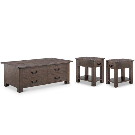Coffee And End Table Sets With Storage 5