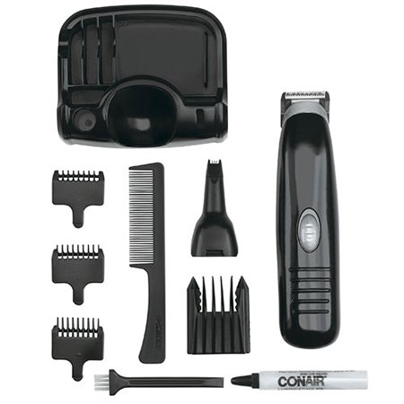 12 piece battery operated beard and mustache trimmer. Black Bedroom Furniture Sets. Home Design Ideas