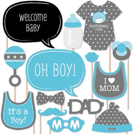 Baby Boy Baby Shower Photo Booth Props Kit 20 Count Walmartcom