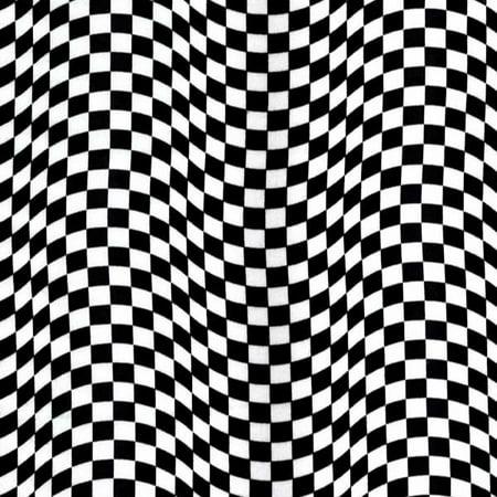 Timeless Treasures Fabrics Cultural Novelty Fabric Flag Black & White Checkered Flag