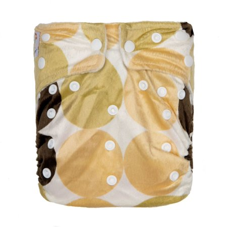 - Kawaii Baby One Size Luxurious Snazzy Minky Cloth Diaper with 2 Microfiber Inserts Golden