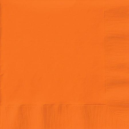 Creative Expressions Luncheon Napkins 50-Pack, Sunkissed Orange (Ladybug Fancy Luncheon Napkins)