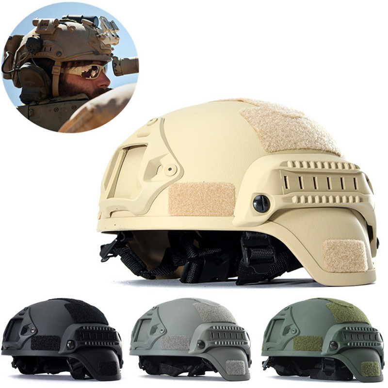 Scode Military Tactical Combat MICH2000 Simplified Action Hunting Helmet with Airsoft US by
