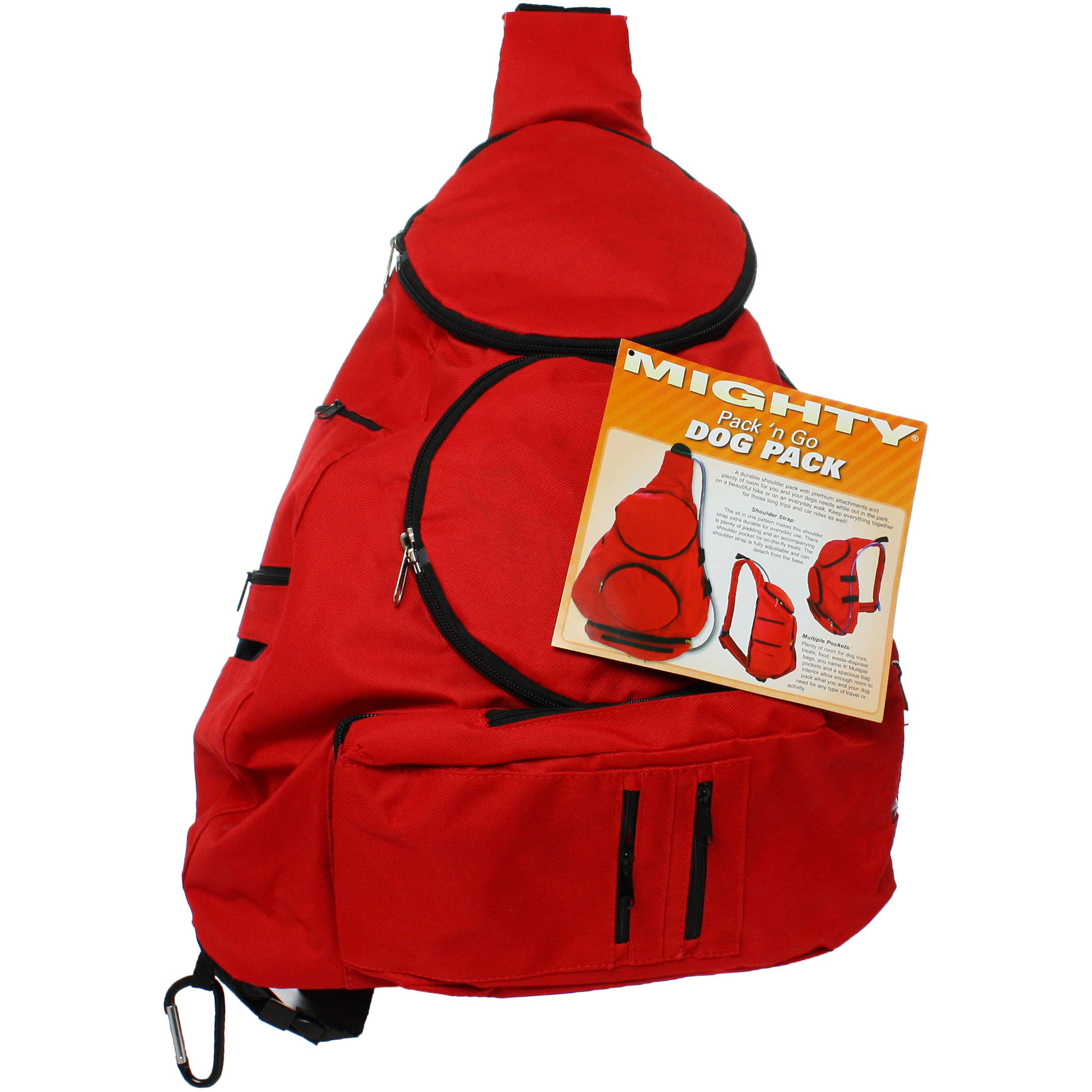 Mighty Pack 'n Go Dog Pack, Red