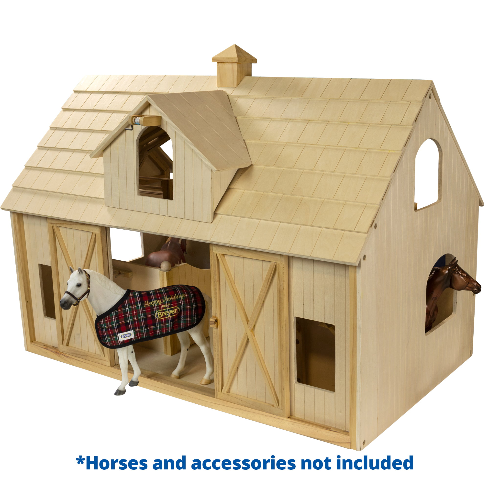 Breyer Traditional Deluxe Wood Horse Barn W Cupola Toy Model Walmart Com Walmart Com