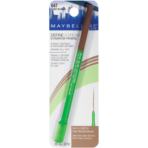 Maybelline Define-A-Brow Eyebrow Pencil, Light Blonde ...
