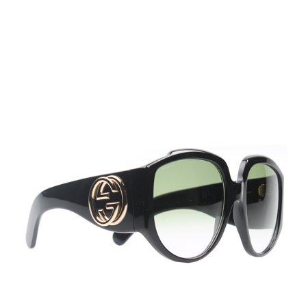Gucci GG0151S-001 Black Square Sunglasses