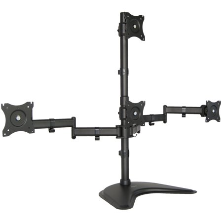 VIVO Quad LCD Monitor Desk Stand Mount Free-Standing 3 + 1 = 4 Screens up to 24