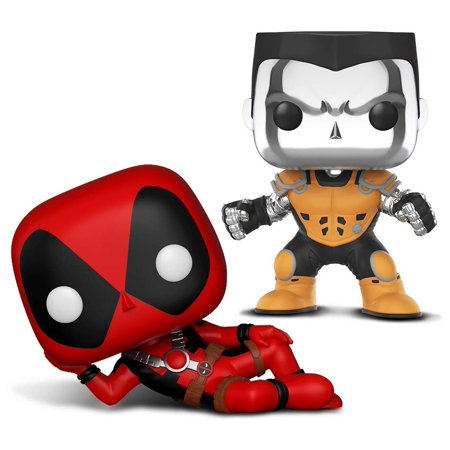 - Warp Gadgets Bundle - Funko Pop X-Men - Colossus [Chrome] - L.A. Comic Con Exclusive and Funko Pop Marvel Deadpool Parody - Deadpool (2 Items)