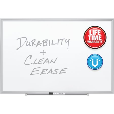 - Quartet Premium DuraMax Porcelain Magnetic Whiteboard, 3' x 2', Silver Aluminum Frame