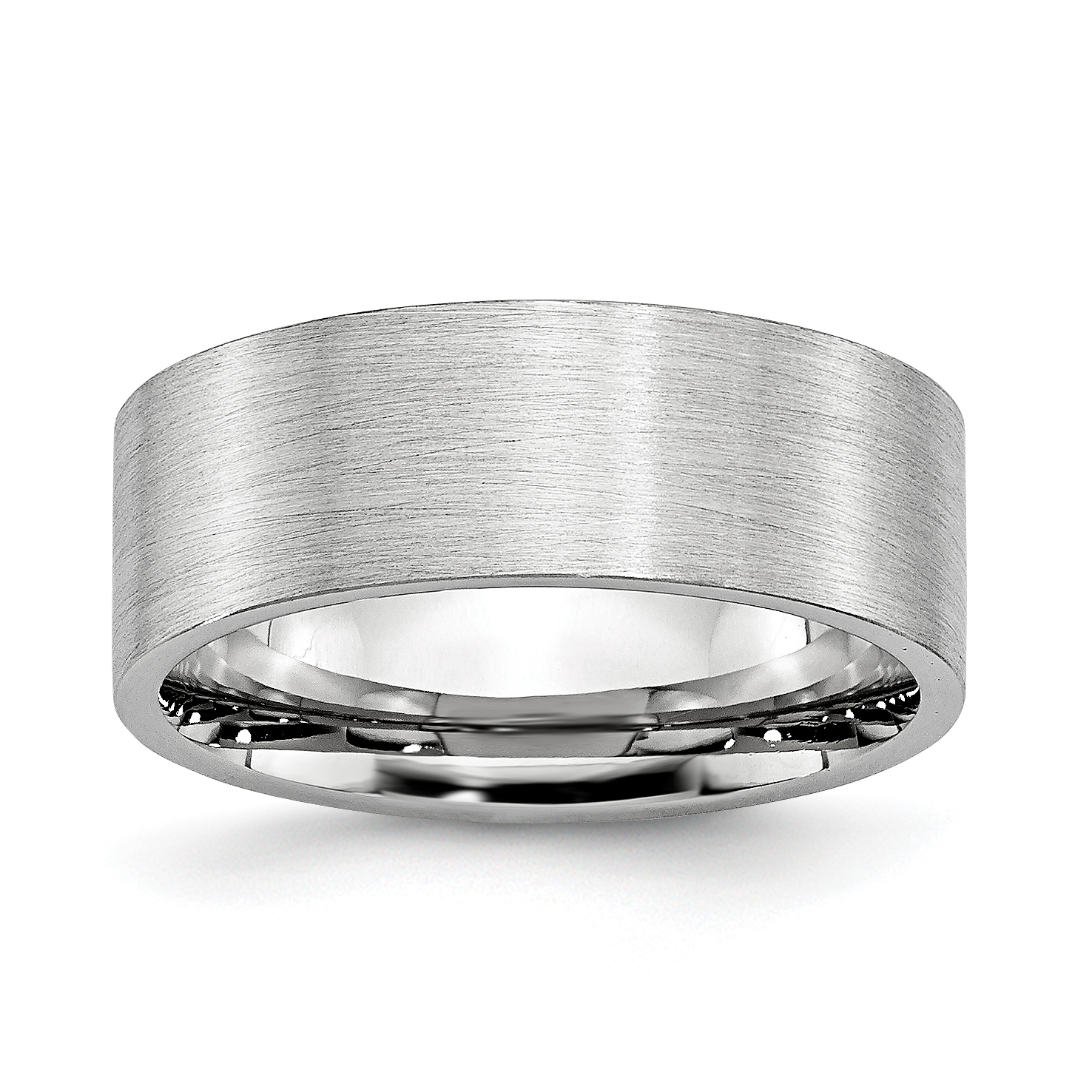 Cobalt Flat 8mm Wedding Ring Band Size 7.00 Classic Fashion Jewelry Gifts For Women For Her - image 6 of 6