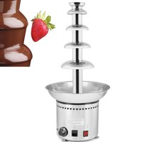 VEVOR Chocolate Fountain 5 Tiers 27 Inch Commercial Chocolate Fountain 68CM Stainless Steel Chocolate Fondue Fountain for Commercial or Home Use with Luxury Waterfall