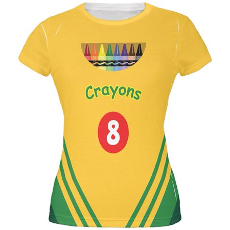 Crayon Box Costume All Over Juniors T-Shirt - Crayon T Shirt