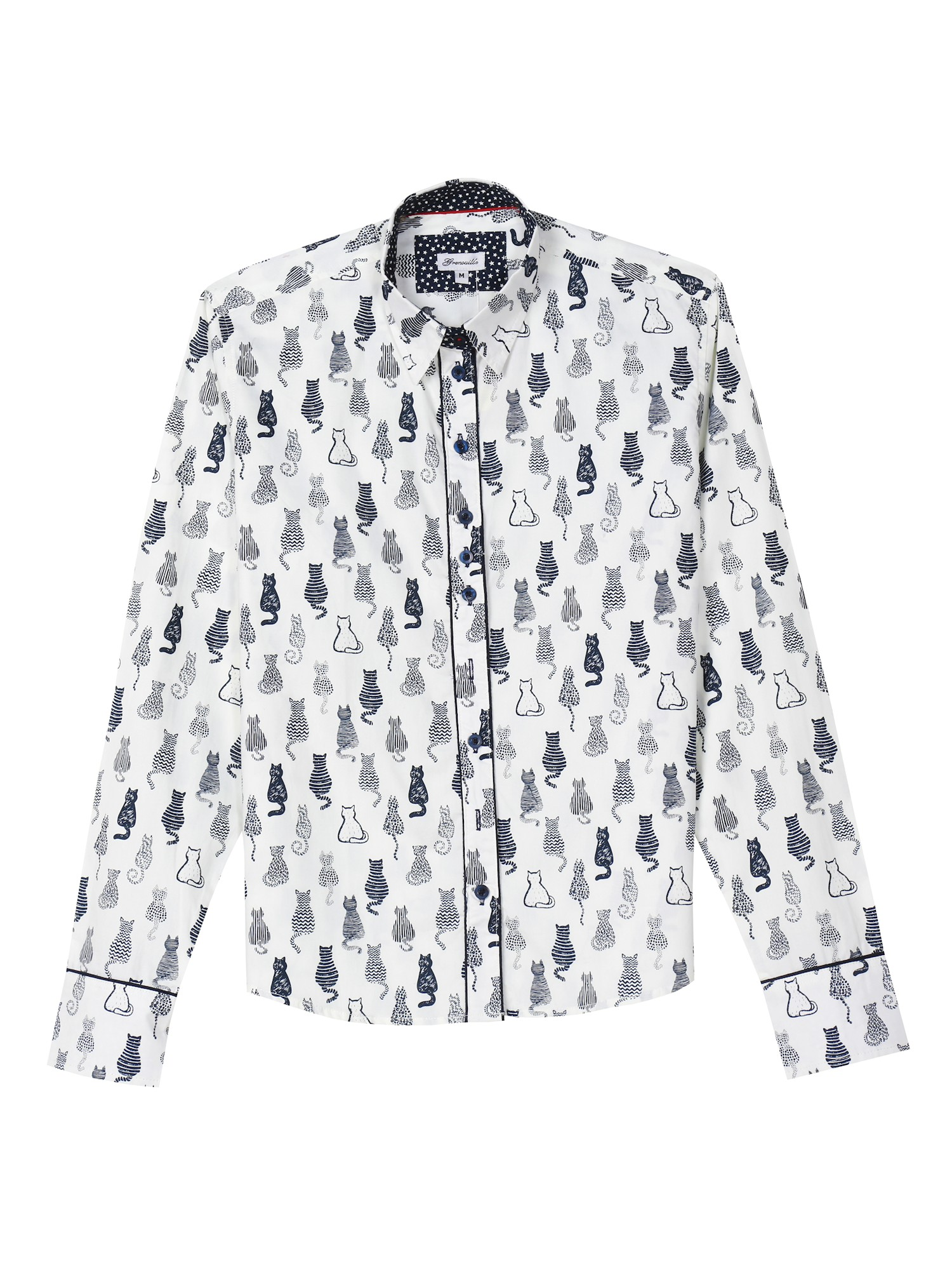 69f118822 What on Earth - What on Earth Women's Cat Print Oxford Top - Black & White  Button Down Shirt - Walmart.com