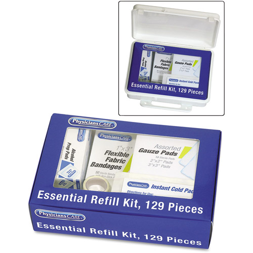 PhysiciansCare First Aid Essential Refill Kit, 129 pc